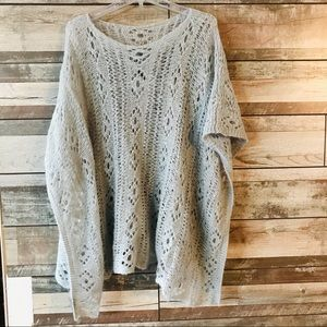 Wooden ships poncho gray extremely soft